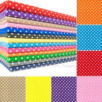Polka Dots Fabric 5MM Polycotton Craft Dots Spots Spotty Kids Childrens Dress