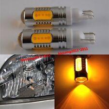 2PCS T10 T15 7.5W Lens Cree LED Light BULBS Amber Orange Car Signal Tail Turn
