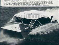 1960 US Navy Hydroskimmer Boat  Press Photo