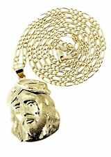 10K Yellow Gold Figaro Chain & Jesus Piece Chain | Appx. 9.6 Grams