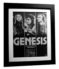 GENESIS+And Then Were Three+POSTER+AD+RARE+ORIG 1978+FRAMED+EXPRESS GLOBAL SHIP