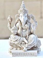 Rare Lord Ganesh Ganesha Beautiful Statues Hindu Good Luck God - White Statues,