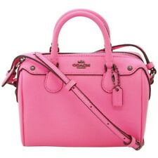 NWT COACH Mini Bennett Shoulder Bag Crossbody Leather Hot Pink Purse F28717 NEW