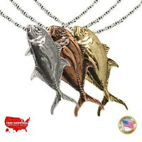 Nautical Jewelry. Mahi Mahi Fish Pendant Sterling Silver Mahi Dolphin Pendant Dorado Fish Pendant