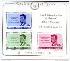 Cyprus 1965 President Kennedy Commemoration, miniature sheet MS258a unmounted mi