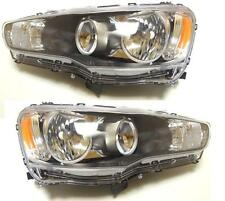 MITSUBISHI LANCER 2007-20012 HEADLIGHTS LEFT+RIGHT LHD for right-hand traffic