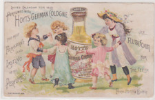 1880s HOYT'S GERMAN COLOGNE LOWELL MASS VICTORIAN TRADE CARD
