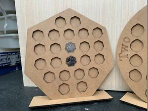 50p Coin collection holder Display with stand holds 23 coins in Plain mdf