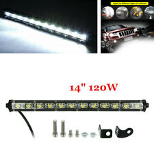 "1X 120W 14"" Cree LED Work Light Bar Spot Beam Offroad 4WD UTE Fog Driving Lamp"