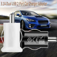 Universal Mini 3.1A Dual USB 2-Ports Car Charger Adapter for iPhone iPod--