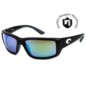 Costa Del Mar TF11OGMGLP, Polarized Fantail Black Green Mirror 580G Sunglasses