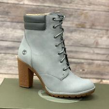 Timberland Women's Tillston 6 Inch Grey Nubuck Leather Boots A2DFG