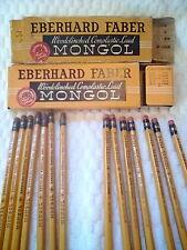 7 Eberhard Faber Mongol 482 #3 Pencils + 7 Farber Mongol 482 # 2 pencils vintage