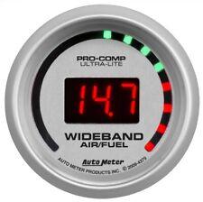"Auto Meter 4379 2-1/16"" Ultra-Lite Wideband Street Air/Fuel Ratio Gauge NEW"