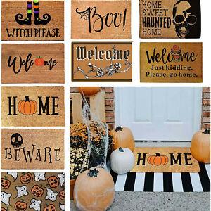 Halloween Doormat Carpet Welcome Home Mat Non Slip Bottom Indoor Outdoor Carpet