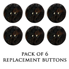 NEW REPLACEMENT JACKET BUTTONS - BROWN IMITATION HORN BUTTON - SMALL