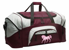 Pink Horse Duffle Bag Travel or Gym Duffel