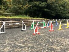 horse show jumps, set of 5 by bristol show jumps. with keyhole tracks (RBYGB)