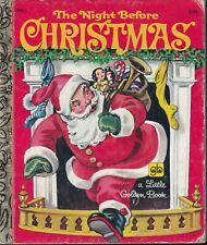 NIGHT BEFORE CHRISTMAS- HC #450-1 1949/1979...VG LITTLE GOLDEN BOOK -