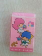 Vintage Sanrio Little Twin Stars Pink Rubber New old stock 1988  Fairy Kei style