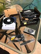 Nikon Coolpix S6000 Champange Camera 7x Wide Bundle Box A3