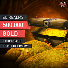 WOW World of Warcraft Gold Currency 500.000 500K EU Realms fast delivery & safe
