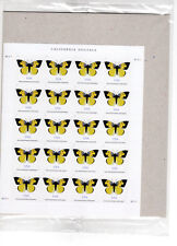 California Dogface Butterfly Stamp Sheet of 20 ( P.O. Sealed ) MNH