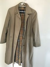 Burberry Vintage Long Trench Coat Beige