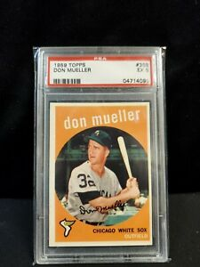 1959-TOPPS DON MUELLER-CHICAGO WHITE SOX--PSA 5