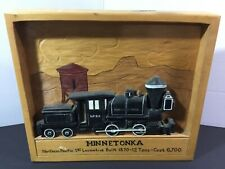 """Minnetonka Train Relief Wood Carving By Chick Sales. 14"""" X 12"""""""