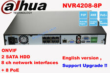 New for Dahua NVR4208-8P NVR 8CH Channel 1U Case 8 PoE Network Video Recorder