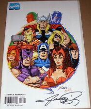 Avengers #12 White Variant SIGNED George Perez Marvel 1998 3rd series Head-Shot