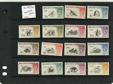 QEII FALKLAND IS SG;193-207 - 1960 BIRDS SET OF 15  LIGHTLY MOUNTED MINT / UMM