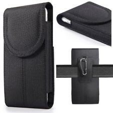 For Samsung S8 S9Plus Vertical Canvas Phone Case Cover Pouch Holster w Belt Clip