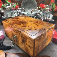 Keepsake box Thuya wooden jewelry box, memory jewelry holder Valentine gift box