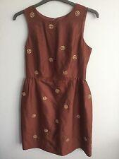 BODEN  NWT Embellished Spot Dress - Tan - UK 12 R