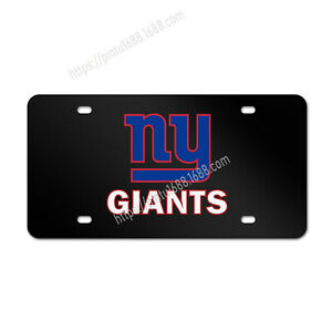 New York Giants Tag Cover Car Liscense Plate Aluminum Metal Vechicle License Tag
