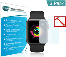 3 x Slabo PREMIUM Panzerglasfolie für Apple Watch Series 3 (38mm) KLAR - 9H