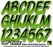 STIFFIE Whipline WL121-SS Sea-Doo Spark Registration Numbers Decals TEAM GREEN