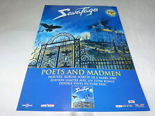 SAVATAGE - Publicité de magazine / Advert POETS AND MADMEN !!!