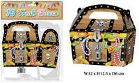 10 Pirate Treat Boxes - Small Cupcake Food Loot Cardboard Gift
