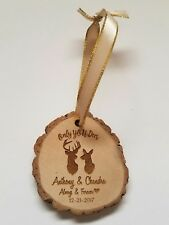 Personalized Wood Ornament Only YOU Deer Christmas Buck Doe Deer Names & Year