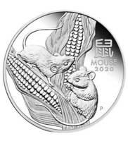 1 oz Silbermünze 2020 Lunar III  Jahr der Maus Mouse (Feinsilber 31,1 g)
