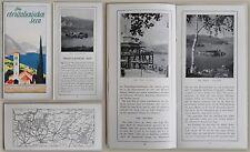 Reiseprospekt: Die oberitalienischen Seen (um 1935) - Landeskunde Italien - xz