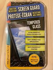 Shatter-Resistant Screen Guard Tempered Glass for iPhone 6, 6S, 7, 8,
