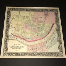 1864 Samuel Augustus Mitchell Map of Cincinnati. Ohio - Geographicus Cincinnati