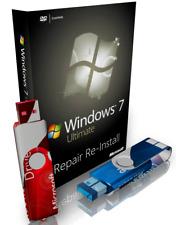 Windows 7 Ultimate Repair Reinstall Recovery Boot USB + Driver USB 64 Bit