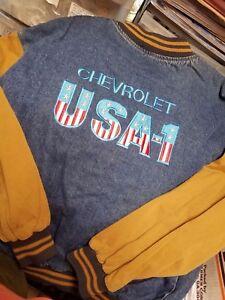 Chevrolet  USA-1  heavy duty denim  embroidered Jacket Adult XL