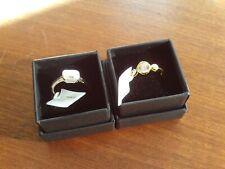 Swarovski & Silver/Gold Rings x 2 (Pair) Size Q NEW/Unworn/BNWT/Boxed (Ref:c-i)
