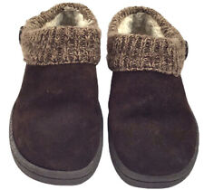 Clarks Women's Knit Collar Clog / Mule Slipper Brown,  7 M